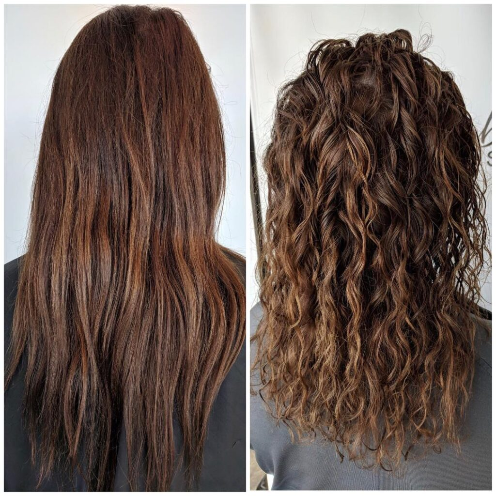 American Wave Perm Before and After
