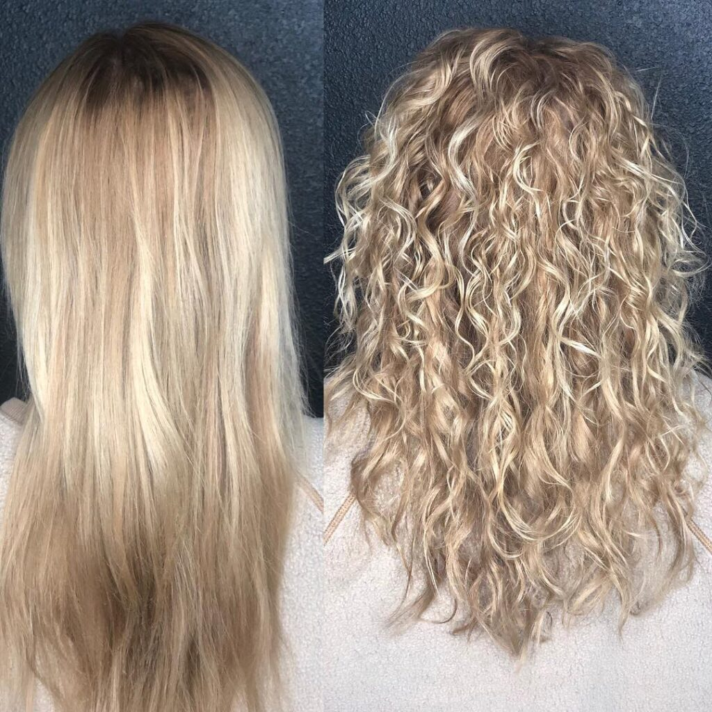 American Wave Perm Before and After Picture