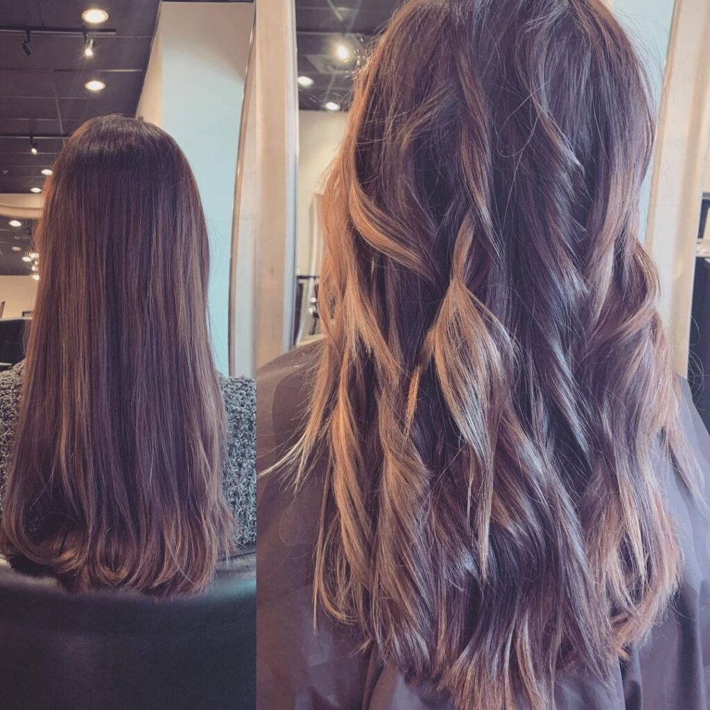 American Wavy Perm Before and After