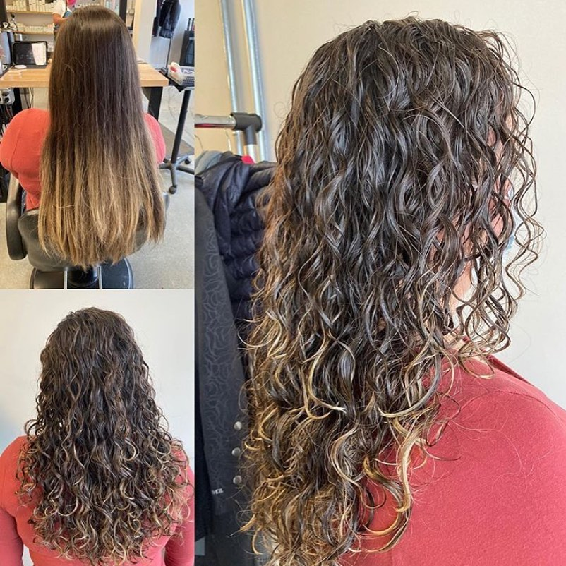 Beach Wave Perm Before and After Pictures