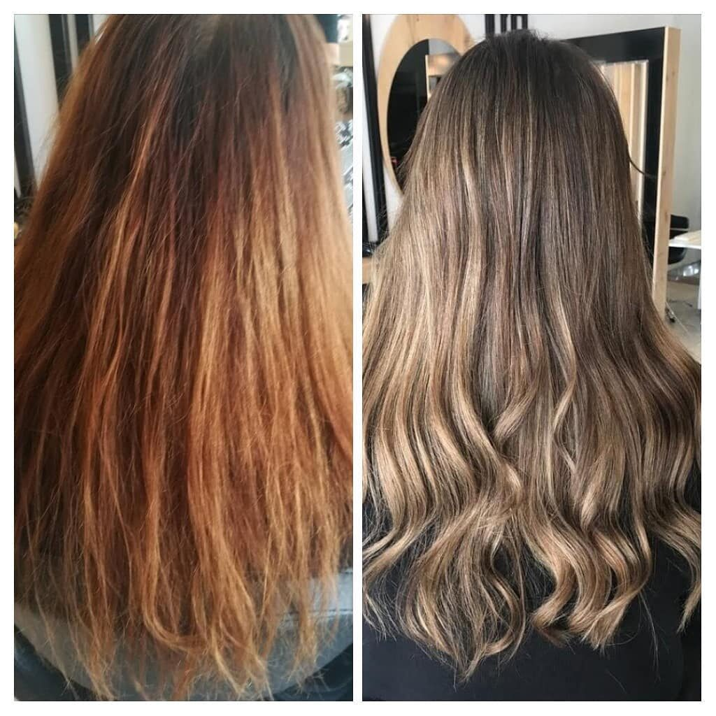 Bleach Wash Hair Before and After 1