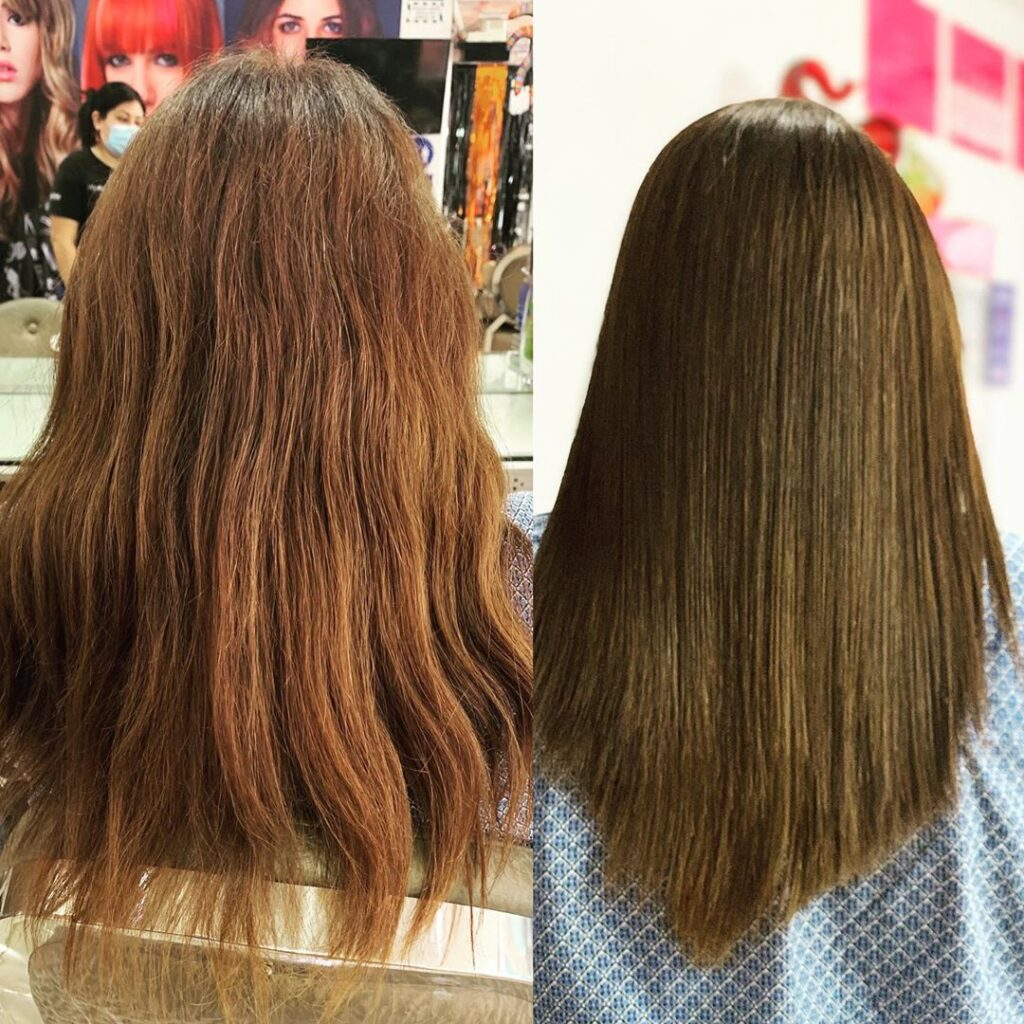 Bleach Wash Hair Before and After