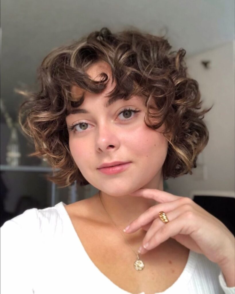 Short Curly Perm