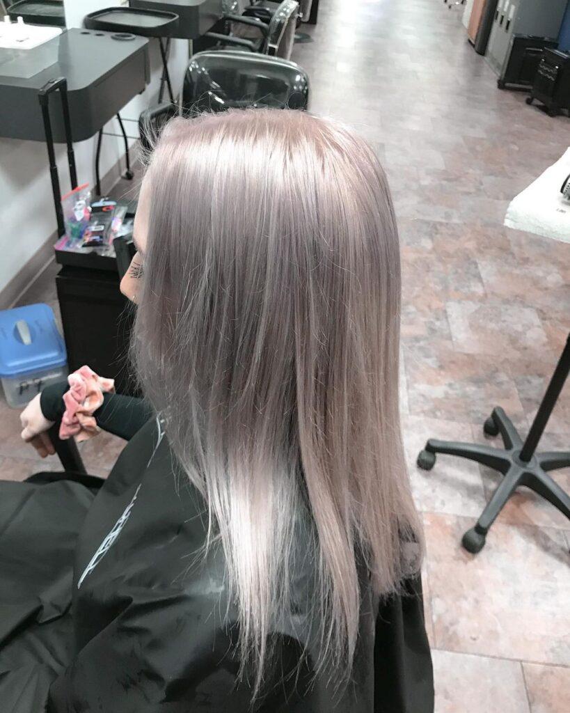 a bleach bath hair