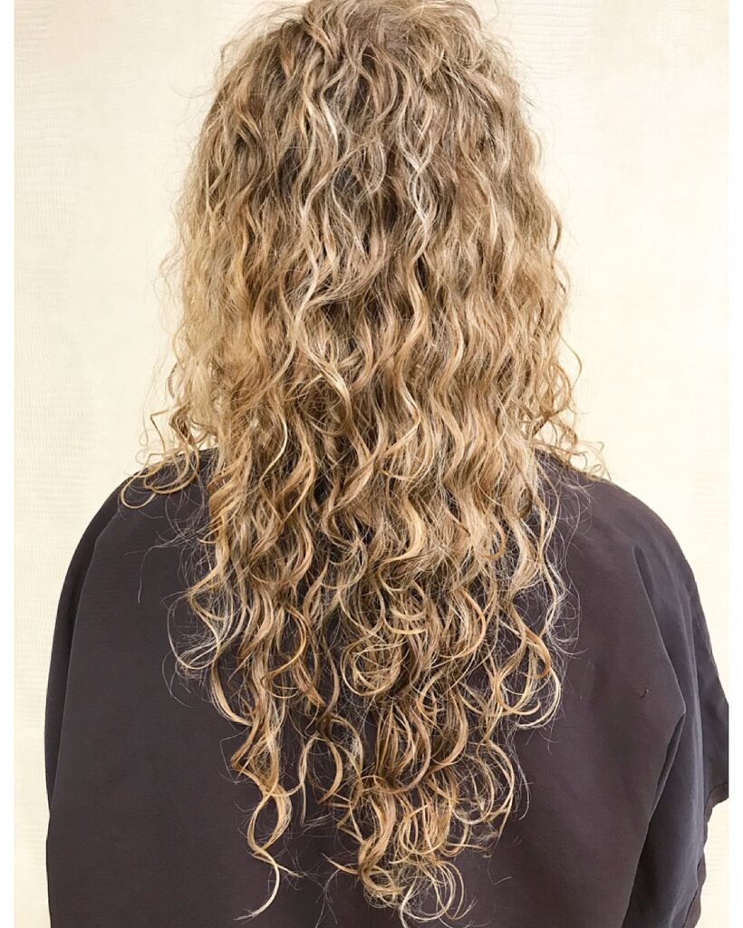 american wave perm hair