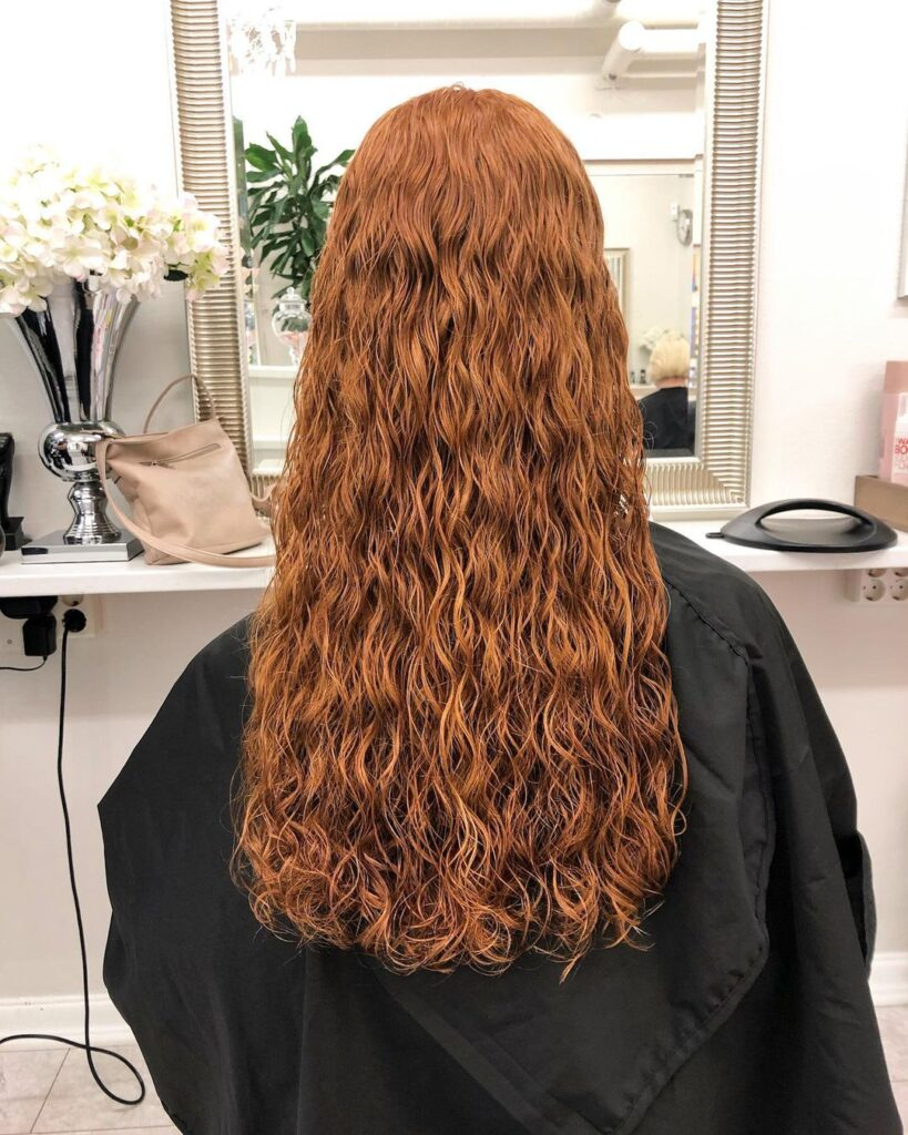 beach wave perm or hair perm
