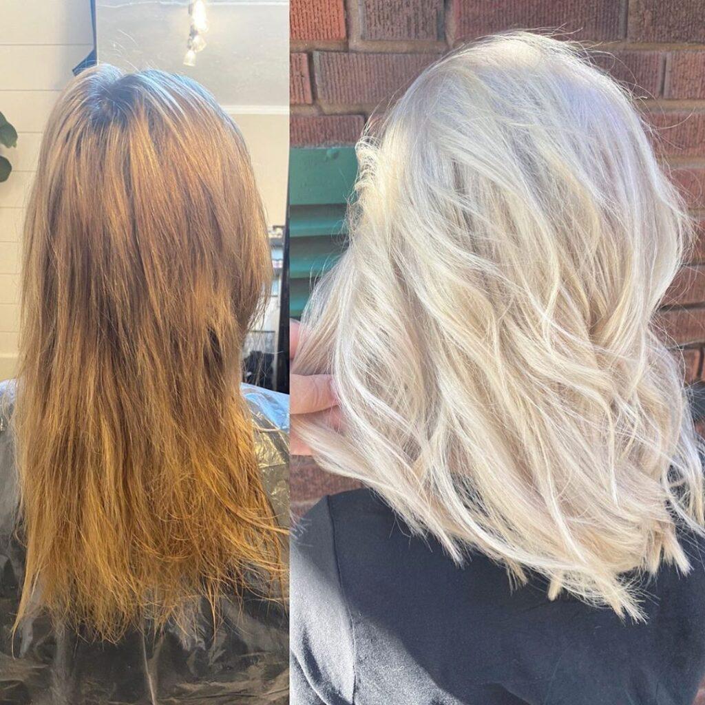 hair bleach bath
