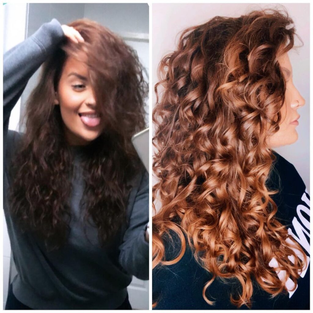 Before And After Curly Girl Method