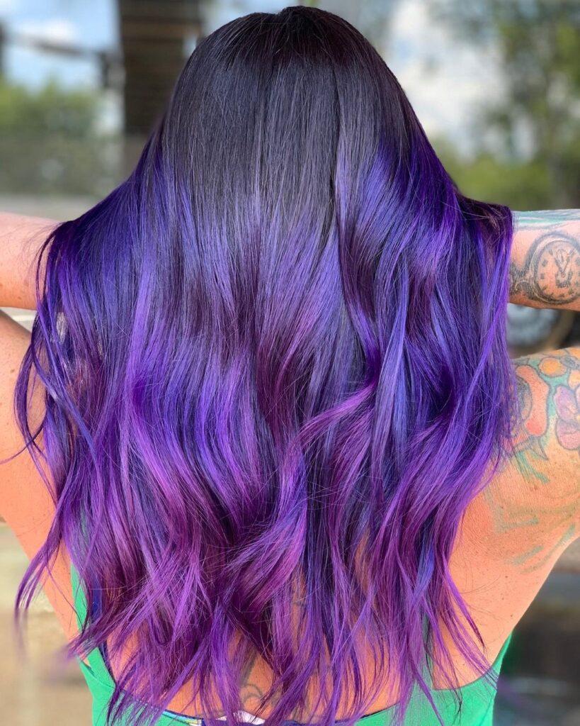 Dark Puple Hair Color Ideas