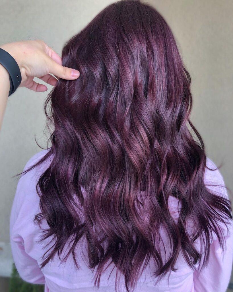 Dark Purple Hair Color