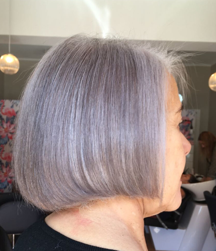 Natural Hairstyles For Short Gray Hair Classic Bob