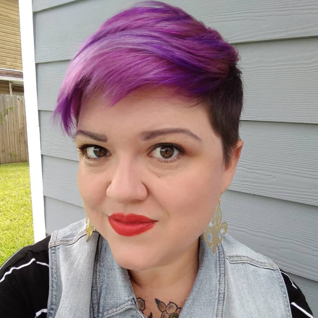 Paint Trick For Fat Girls With Short Hairstyles