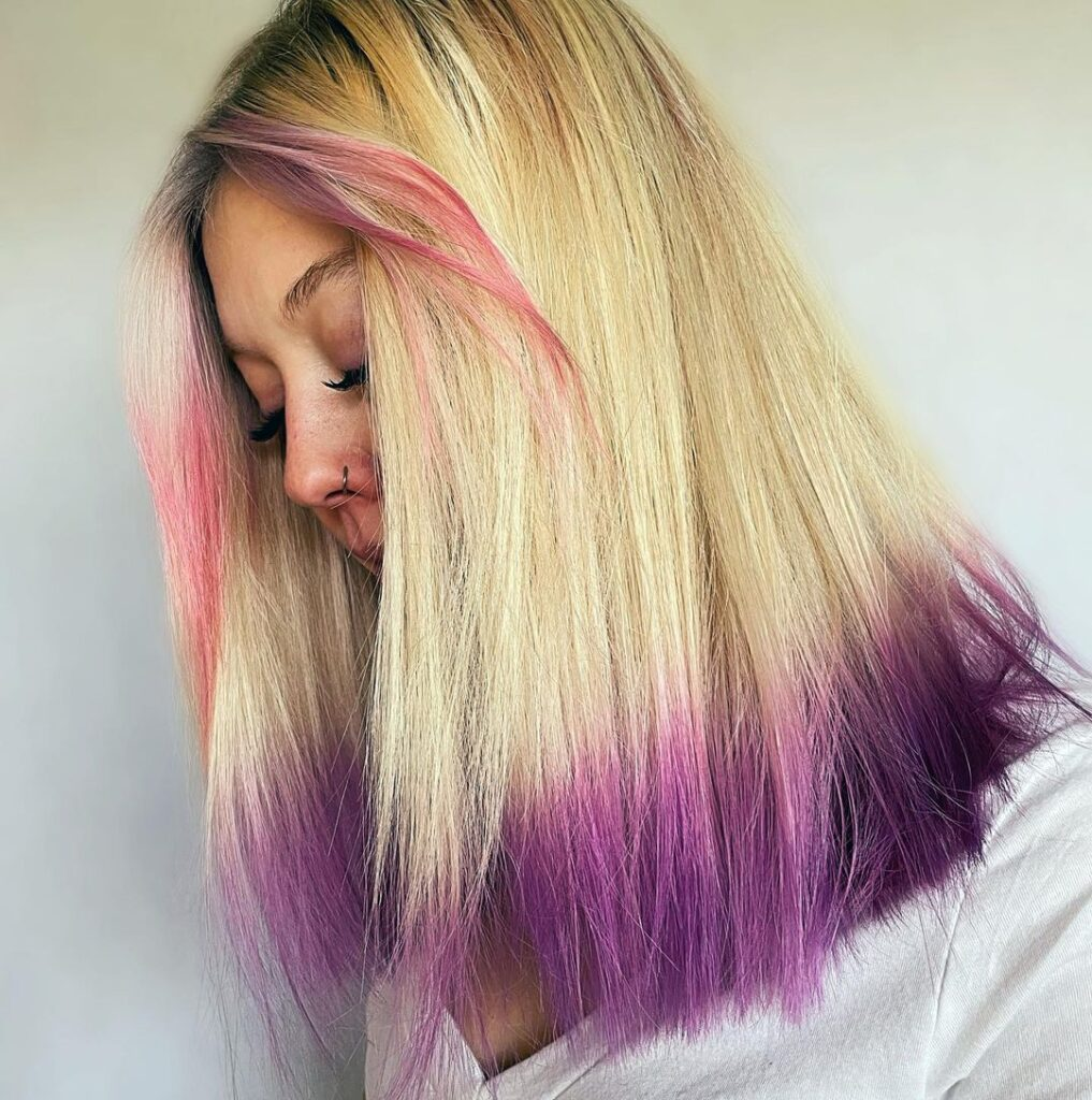 Purple At The Ends Of The Hair