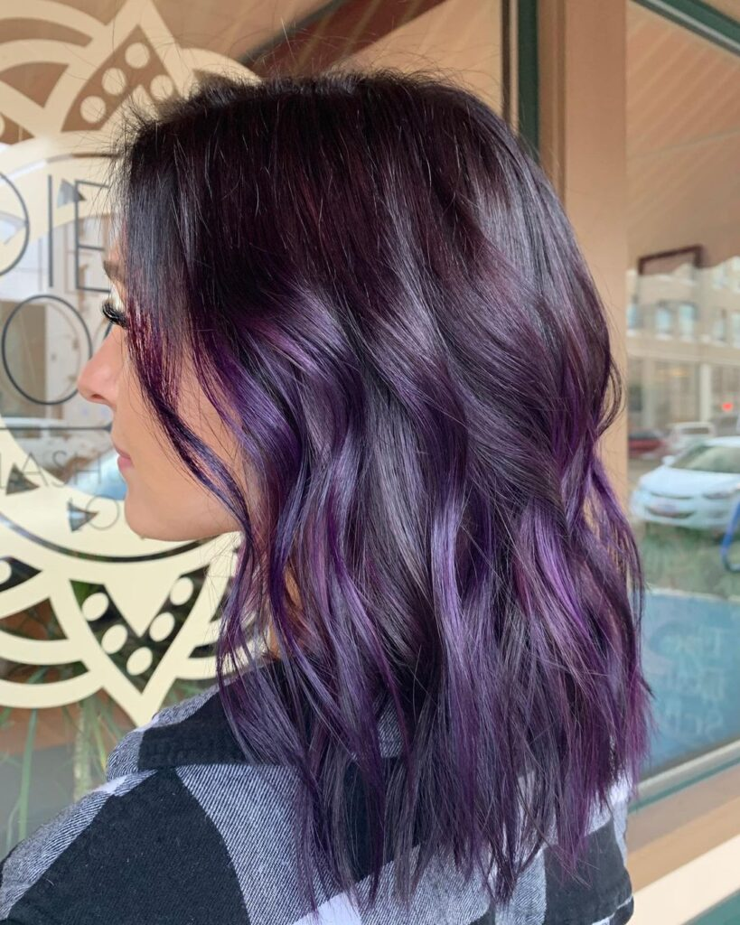 dark purple hairstyles
